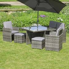cube rattan garden furniture perfect for summer evenings home