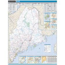 Map Maine Rand Mcnally Oregon State Wall Map