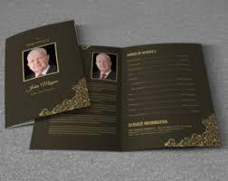 Paper For Funeral Programs Funeral Program Etsy