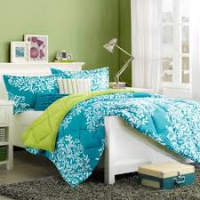 Girls Queen Comforter Turquoise Blue U0026 Green Girls Queen Comforter Set U0026 Bonus Toss