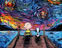 pop culture icons invade van gogh s starry night painting in adorable series design you trust