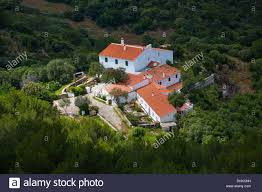 menorca traditional mediterranean houses aerial view from pico del