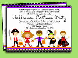 halloween kids cartoons halloween kids costume party invitation printable or printed
