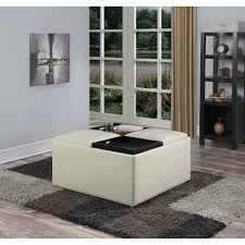 Simpli Home Avalon Storage Ottoman Simpli Home Avalon Coffee Table Storage Ottoman With 4 Serving
