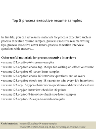 Executive Resume Example by Top 8 Process Executive Resume Samples 1 638 Jpg Cb U003d1428396409