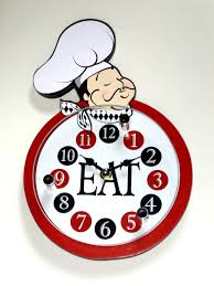 Italian Themed Kitchen Curtains by Fat Italian Chef Kitchen Wall Clock 19 95 Fat Chefs Kitchen