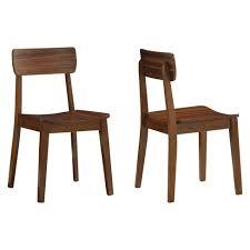 Zebra Dining Chairs Hagen Zebra Dining Chair Wood Walnut Set Of 2 Boraam Target