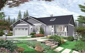 front sloping lot house plans expandable bungalow plan for sloping lot 6897am architectural
