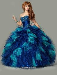 quince dress blue tulle sparkly beaded quinceanera dress strapless sweetheart