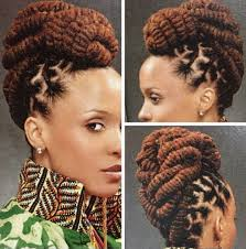 braided pin up hairstyle for black women i love the three strand twists in an updo stylin african