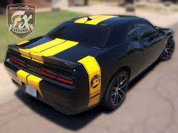 Dodge Challenger Yellow - dodge challenger stripes racing stripes r t graphics u2013 streetgrafx