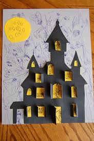 Halloween Crafts For Classroom - haunted house halloween cut out haunted houses house drawing