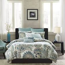 Duvet Covers King Contemporary Ink Ivy Mira Blue Duvet Cover Set King Paisley With Regard To