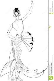 flamenco dancer with fan stock image image of latina 34495269