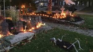 the spooky scary graveyard house decorated for halloween youtube