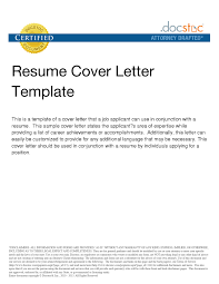 Cover Letter For Any Job Example Of Cover Letter For Resume Template Resume Builder