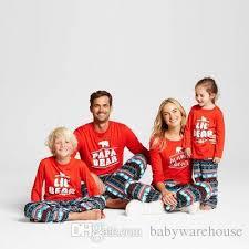 2017 newest family clothes pajama sets sleep lounge papa