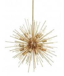 Brushed Brass Chandelier Mid Century Modern Large Brushed Brass Urchin Chandelier 20bulb