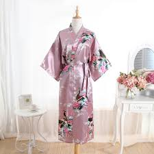 wedding dress lk21 hot sale drak pink women silk rayon robe dress bridemaids
