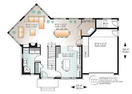 house plan with basement multi family plan w3717 v1 detail from drummondhouseplans