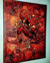 spiderman iron spider premium marvel graphic canvas the