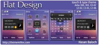 themes for nokia c2 touch and type flat design live theme for nokia asha 202 300 303 c2 02 c2 03