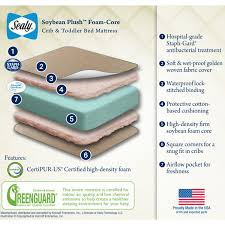 Sealy Soybean Serenity Organic Crib Mattress Sealy Soybean Plush Foam Baby Crib Toddler Mattress In Gold