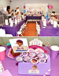 doc mcstuffins birthday party pink and purple doc mcstuffins party hostess with the mostess