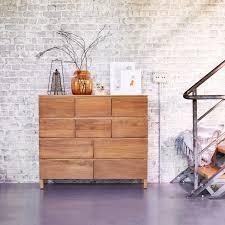 Schlafzimmer Kommode Holz Teak Kommode U2013 Kommodes Mit 2 Schubladen Minimalys Tikamoon