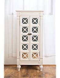 Large White Jewelry Armoire Jewelry Armoires Amazon Com