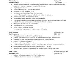 Staff Auditor Resume Sample Very Attractive Staff Accountant Resume 6 Sample Resume Staff