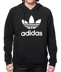 adidas sweater adidas originals trefoil black hoodie zumiez