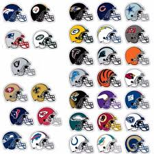 Nfl Decorations Complete Set Officially Licensed Nfl Football Helmet Stickers