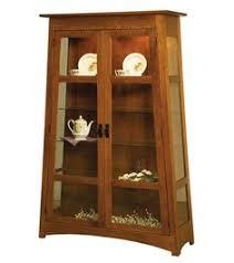 Mission Style Curio Cabinet Plans Medallion Cherry Curio Cabinet By Pulaski Furniture Pulaski