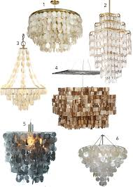 Capiz Light Pendant 16 Capiz Shell Pendants Chandeliers