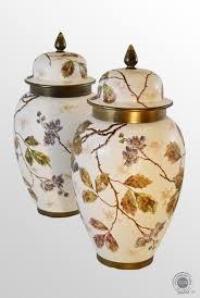 Porcelain Vases Uk Antique Pair Of Victorian China Porcelain Vases Floral Design Urn