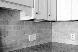 Best Tile For Backsplash In Kitchen by Subway Tile Backsplash Kitchen White Shaker Cabinets Smoke Gray