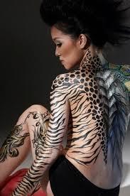 tiger print stencils design idea for and