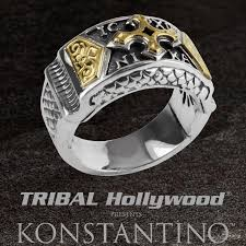mens sterling rings images Konstantino heonos gold cross sterling silver and 18k gold mens ring png