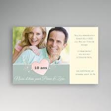 anniversaire mariage 10 ans invitation anniversaire mariage noces etain 10 ans carteland