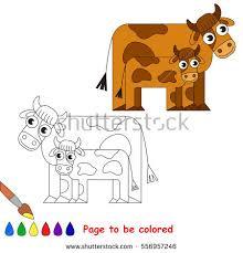 baby calf colored stock vector 574985704 shutterstock