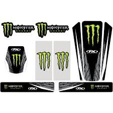 monster energy motocross helmet factory effex monster energy 2013 universal trim kit 16 50662