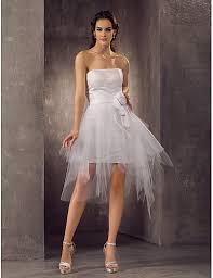wedding dresses with sash ribbon sheath column strapless mini tulle wedding dress with