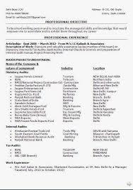 Auditor Resume Sample by Internal Resume Format