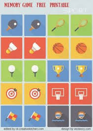 free printable sports ball memory game print out twice cut out