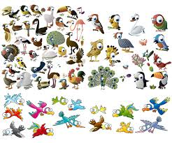 cartoon animals sea creatures and fish vector free download