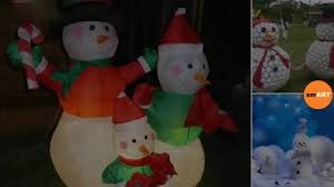 Outdoor Lighted Snowman Decorations by Snowman Decorations Christmas 2016 Youtube