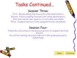 pizza fractions web quest ppt download