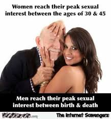 Memes About Men - men versus women reaching their sexual peak funny meme pmslweb