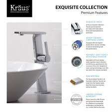 where is the aerator on a kitchen faucet bathroom faucet set kraususa com